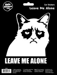 Leave Me Alone Cat Automotive Decal