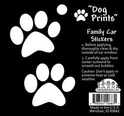 2 Dog Paws Car Stickers