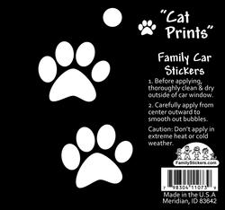 2 Cat Paws Car Stickers