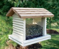 Enchanted Garden™ Log Cabin Feeder with Shaker Shingle Roof