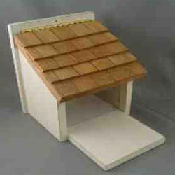 Enchanted Garden™ Squirrel Feeder with Shaker Shingle Roof