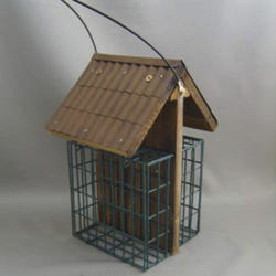 Enchanted Garden™ Double Suet Feeder with Metal Roof