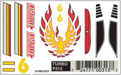 PineCar Turbo Dry Transfer Decals