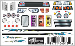 PineCar Racer Accessories Dry Transfer Decals