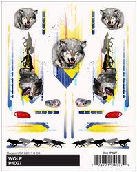 PineCar Wolf Dry Transfer Decals