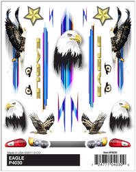PineCar Eagle Dry Transfer Decals