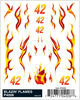 PineCar Blazin' Flames Dry Transfer Decals