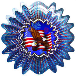 Iron Stop Animated Patriotic Wind Spinner