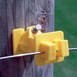 Fi-Shock Slant-Nail Wood Post Insulator (25 Pieces)