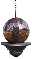 "Enchanted Garden™ 6"" Red Solar Hanging Gazing Ball"