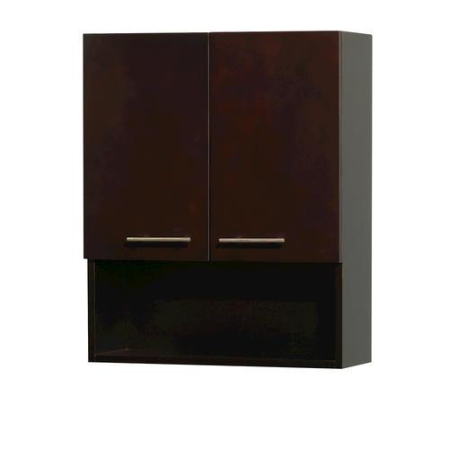 Wyndham collection centra 24 espresso wall cabinet at menards - Menards bathroom wall cabinets ...