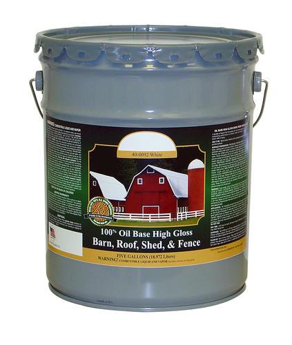 American Heartland High Gloss White Oil Based Barn Roof Paint 5 Gal At Menards
