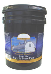 American Heartland Flat White Latex Barn & Fence Paint - 5 gal.