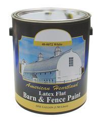 American Heartland Flat White Latex Barn & Fence Paint - 1 gal.