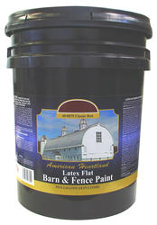 American Heartland Flat Classic Red Latex Barn & Fence Paint - 5 gal.