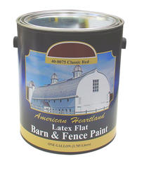 American Heartland Flat Classic Red Latex Barn & Fence Paint - 1 gal.