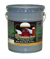 American Heartland High-Gloss White Oil-Based Barn, Roof, Shed & Fence Paint - 5 gal.