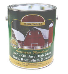 American Heartland High-Gloss Classic Red Oil-Based Barn, Roof, Shed & Fence Paint - 1 gal.
