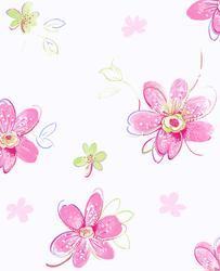 York Wallcoverings Candice Olson Kids bohemian floral