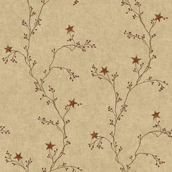 York Wallcoverings Star Berry Vine Wallpaper