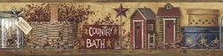 York Wallcoverings Country Bath Border