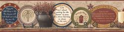 York Wallcoverings Country Plates Border
