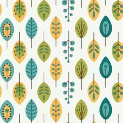 York Wallcoverings Retro Leaves Wallpaper