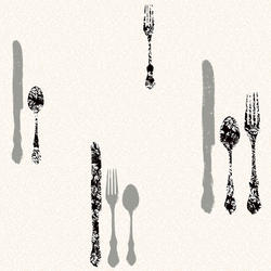 York Wallcoverings Metallic Silverware W/Damask Wallpaper