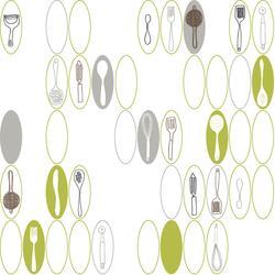 York Wallcoverings  Kitchen Utensils & Ovals  Wallpaper