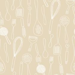 York Wallcoverings Kitchen Contours Silhouettes Wallpaper