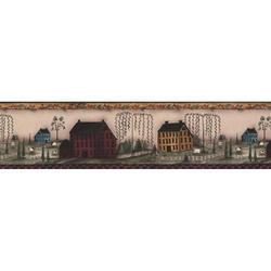 York Wallcoverings Hearts & Crafts III Small Scenic Border