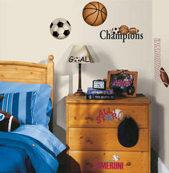 RoomMates Sports Ball Peel & Stick Wall Decals