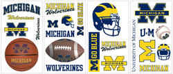RoomMates University of Michigan Peel & Stick Wall Decals