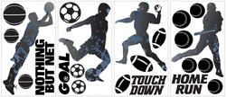 RoomMates Sports Silhouettes Peel & Stick Wall Decals