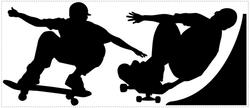 RoomMates Chalkboard Skaters Chalk Peel & Stick Wall Decals
