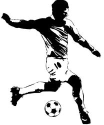 RoomMates Soccer Player Peel & Stick Giant Wall Decals