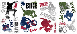 RoomMates Extreme Sports Peel & Stick Wall Decals
