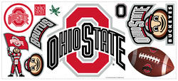 RoomMates Ohio State Peel & Stick Giant Wall Decal w/Hooks