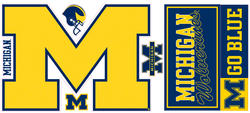 ROOMMATES University of Michigan Giant Peel & Stick Wall Decals