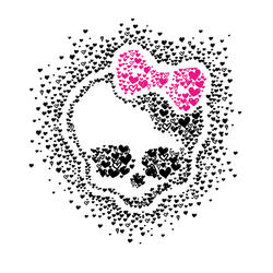 ROOMMATES Monster High Heart Skullette Peel & Stick Wall Decals