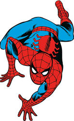 ROOMMATES  Marvel Classic Spiderman Peel and Stick Giant Wall Decals