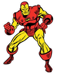 ROOMMATES  Marvel Classic Iron Man Peel and Stick Giant Wall Decals