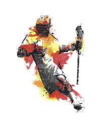 RoomMates Men's Lacrosse Champion Peel and Stick Giant Wall Decals