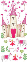 RoomMates Princess Castle Peel & Stick Wall Decals