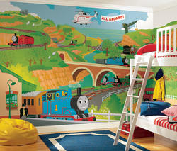 ROOMMATES Thomas the Train Full Size Prepasted Mural 9' x 15'