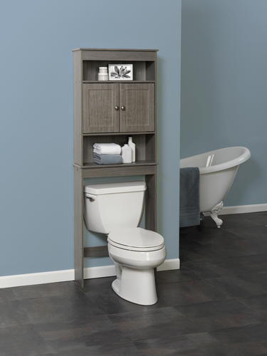 tuscany barnwood over the toilet spacesaver milano gray at menards