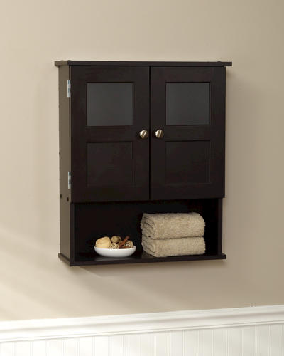 tuscany espresso riley wall cabinet at menards