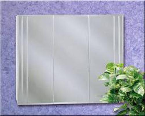 "Zenith 32"" Beveled Cut Glass Tri-View Medicine Cabinet At"