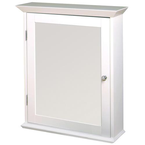zenith wood swing door medicine cabinet white at menards