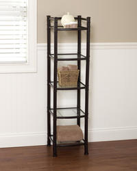 Tuscany Oil-Rubbed Bronze Somerset Linen Tower